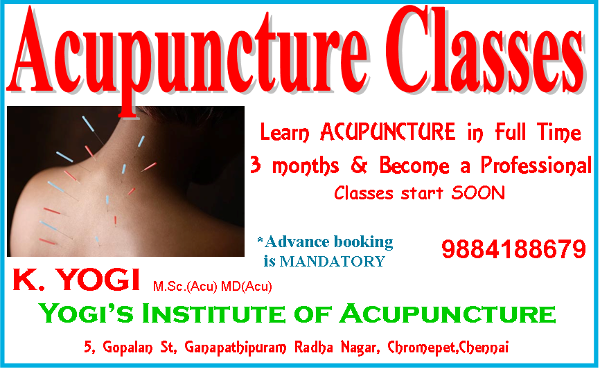 Acupuncture Classes in Chennai